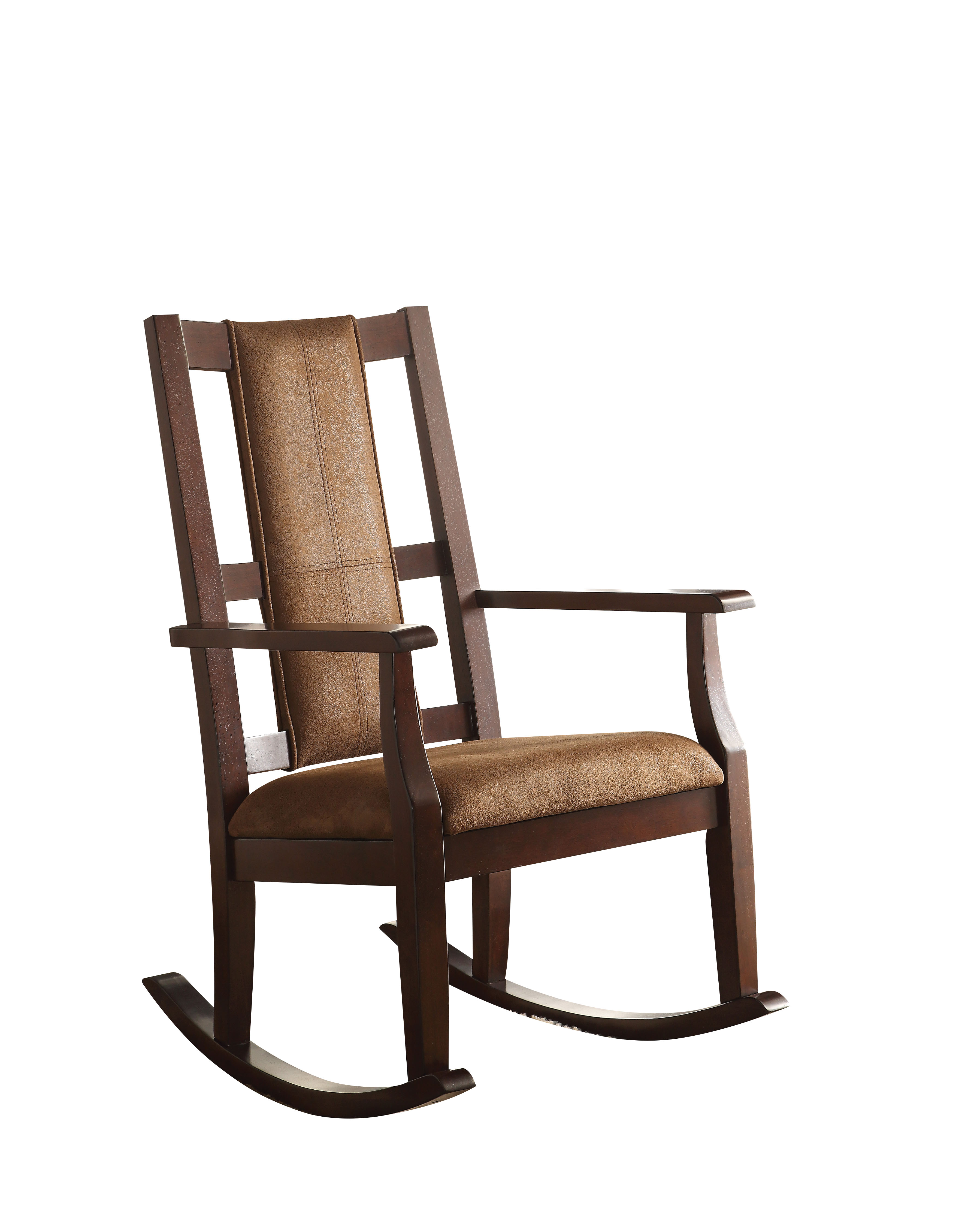 Best Place To Buy Rocking Chairs Acme Butsea Rocking Chair Brown Fabric Espresso