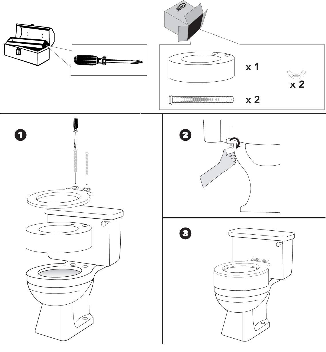 Commodes Solver Carex Raised Toilet Seat Elevator For Elongated Seats Adds