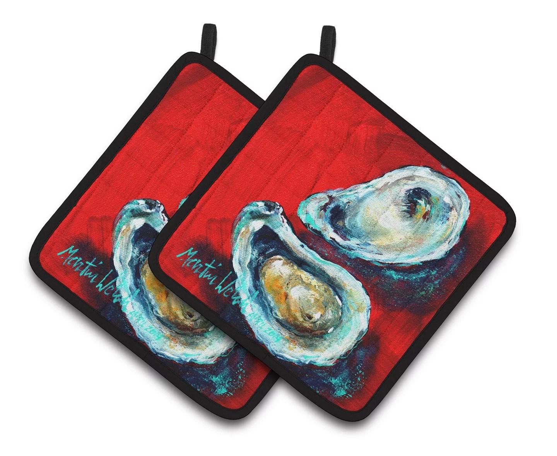 Open Up Oyster Pair Of Pot Holders Walmartcom