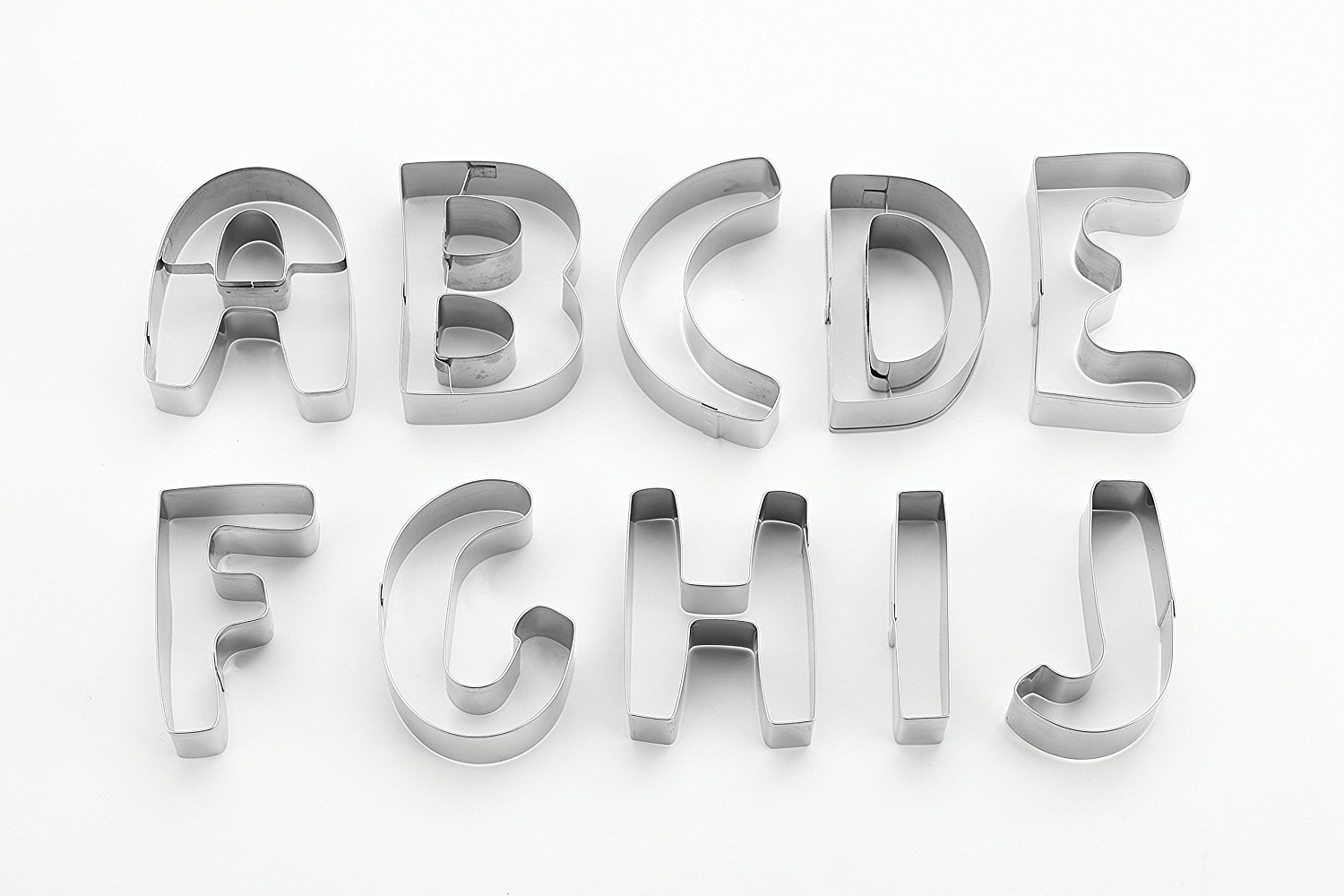 Kitchen Gadget 6 Letters 26 Piece Large Alphabet Cookie Cutter Set A Z