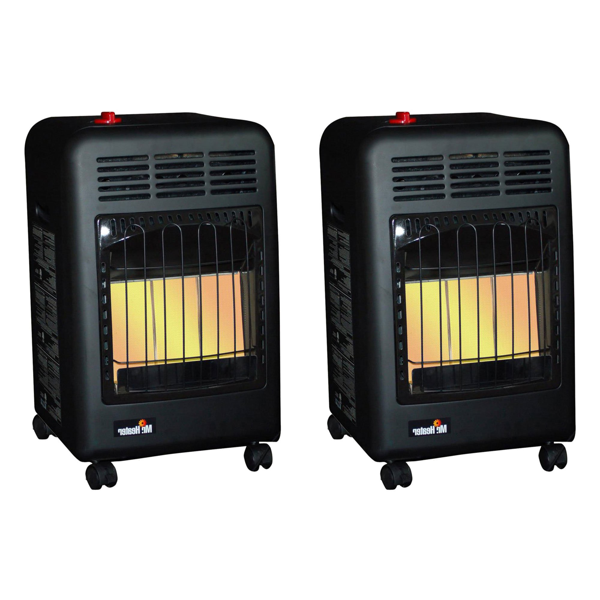 Garage Heater For Dogs Mr Heater 18000 Btu Radiant Propane Cabinet Outdoor Space Heater 2 Pack