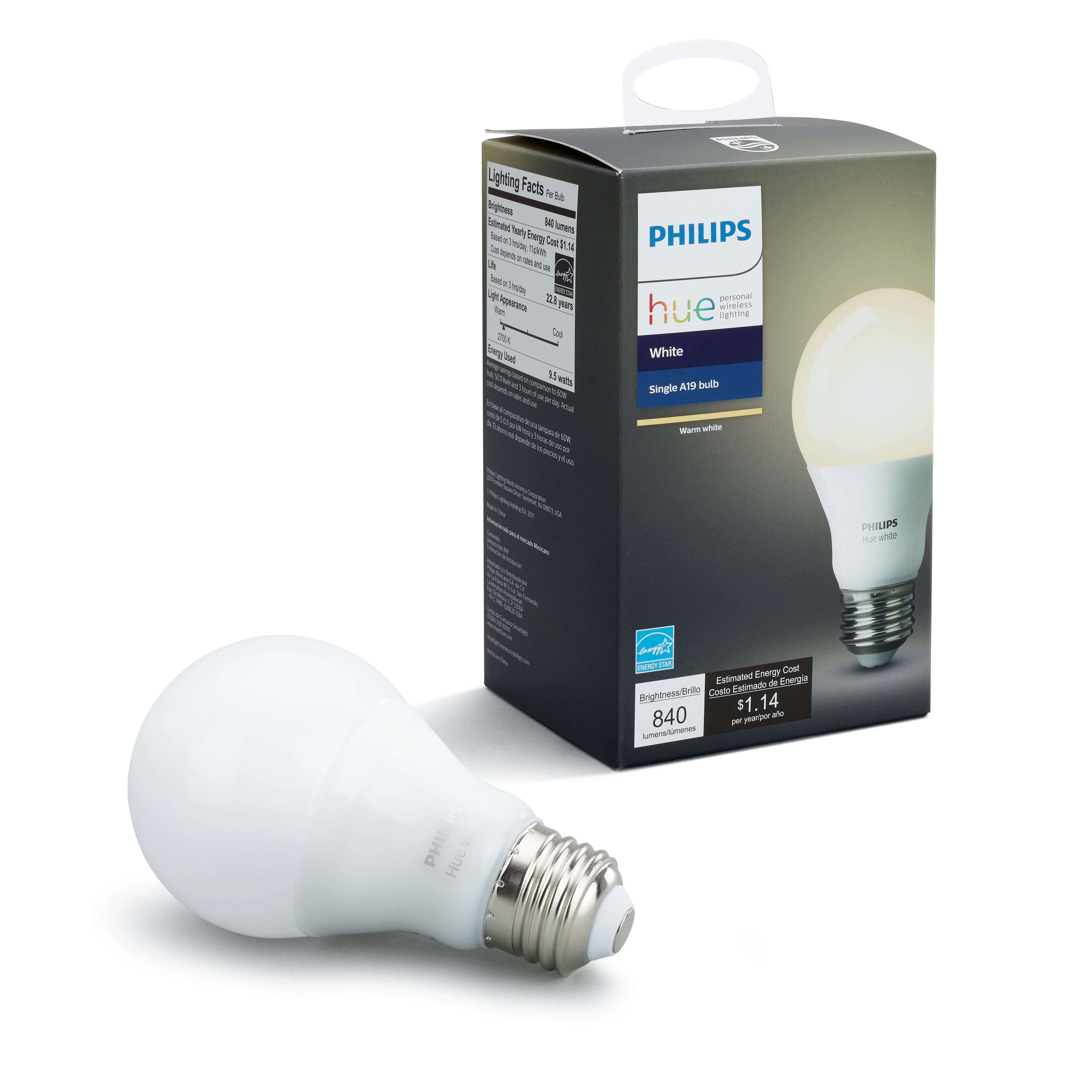 Smart Led Bulb Philips Hue White A19 Smart Light Bulb 60w Led 1 Pack