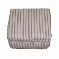 Cannon Flannel Sheet Set Tan Red Blue Stripe Queen Bed
