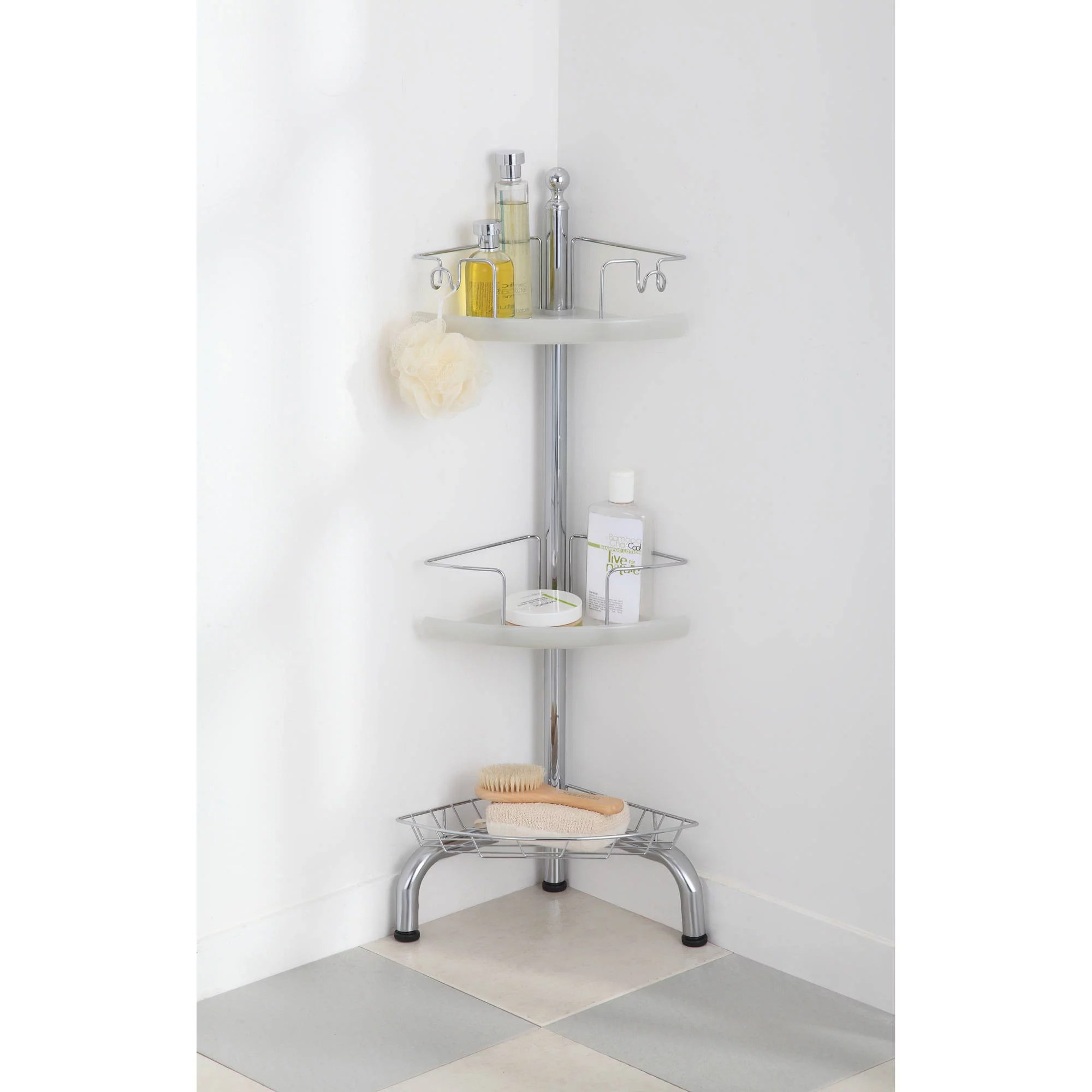 Bathroom Caddy 3 Tier Corner Shower Caddy Adjustable Bathroom Floor