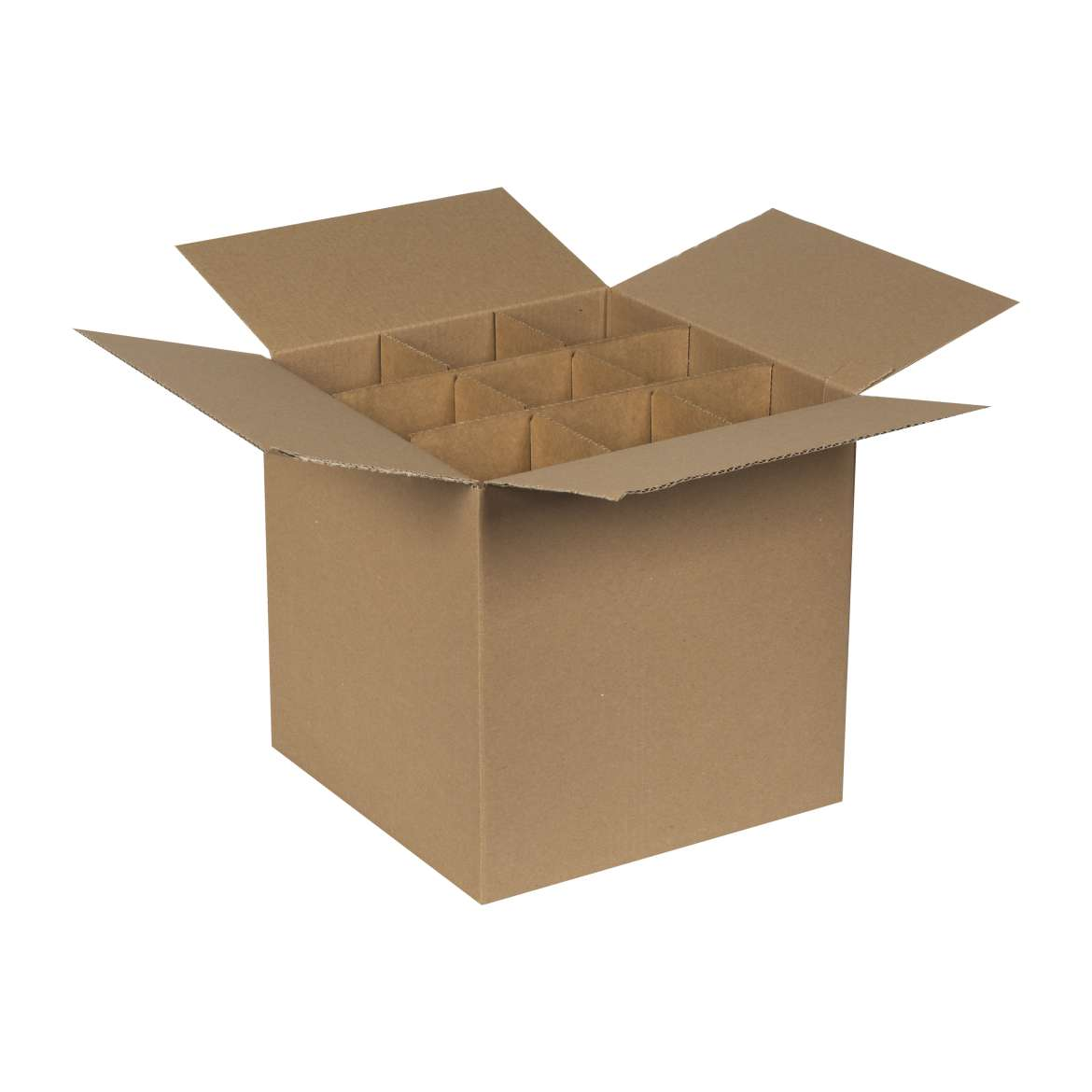 Cardboard Box Dividers Duck Brand Drinking Glass Kitchen Moving Kit 1 Box And 4 Dividers
