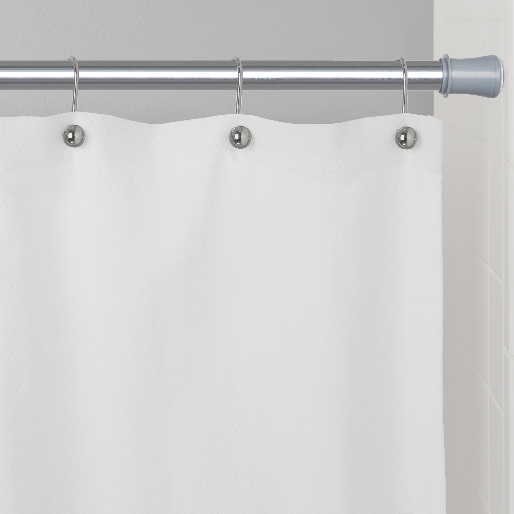 Heavy Duty Tension Shower Curtain Rod Mainstays Easy Hang Adjustable 40