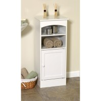 Wood Bathroom Storage Cabinet, White - Walmart.com