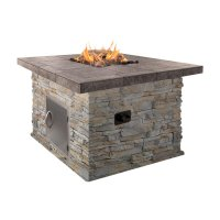 Cal Flame Natural Stone 48 x 35 in. Fire Pit - Walmart.com