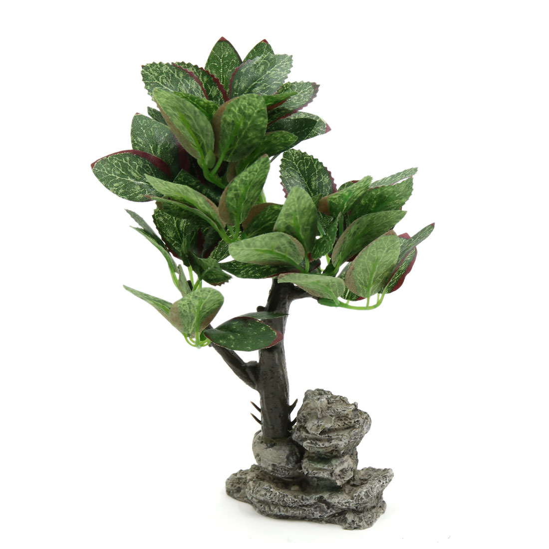 Lifelike Plants Green Plastic Decorative Lifelike Tree Plant Ornament For