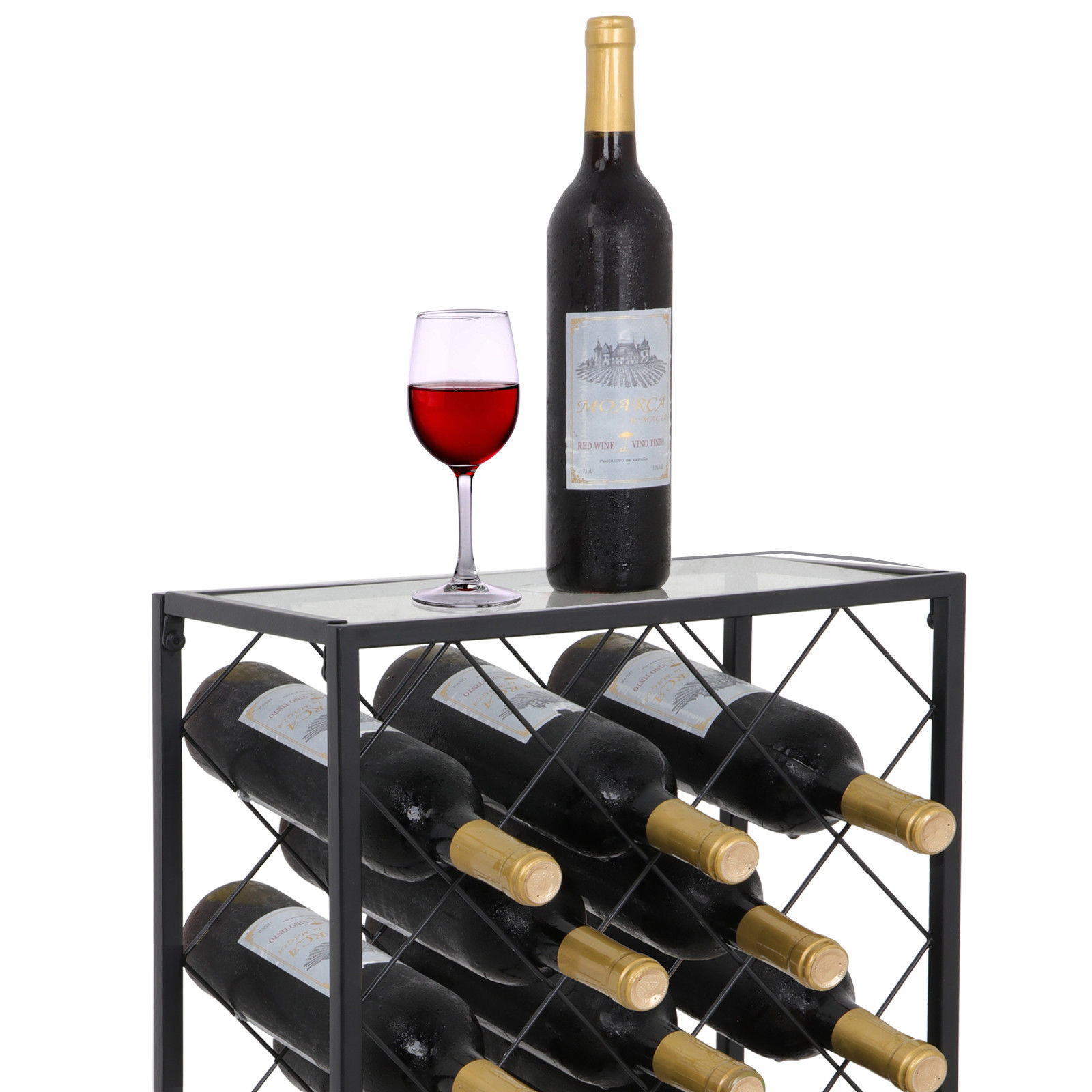 Wine Holder Stand Zeny Mental Wine Rack Display 23 Bottle Wine Storage Holder Stand With Glass Table Top