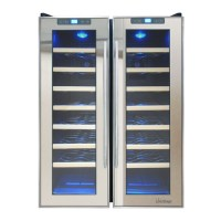 Vinotemp 48 Bottle Dual Zone Freestanding Wine Cooler