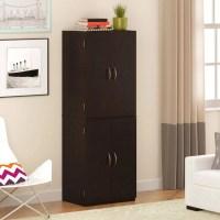 Tall Kitchen Storage Cabinet Wood Shelves Cupboard Food ...