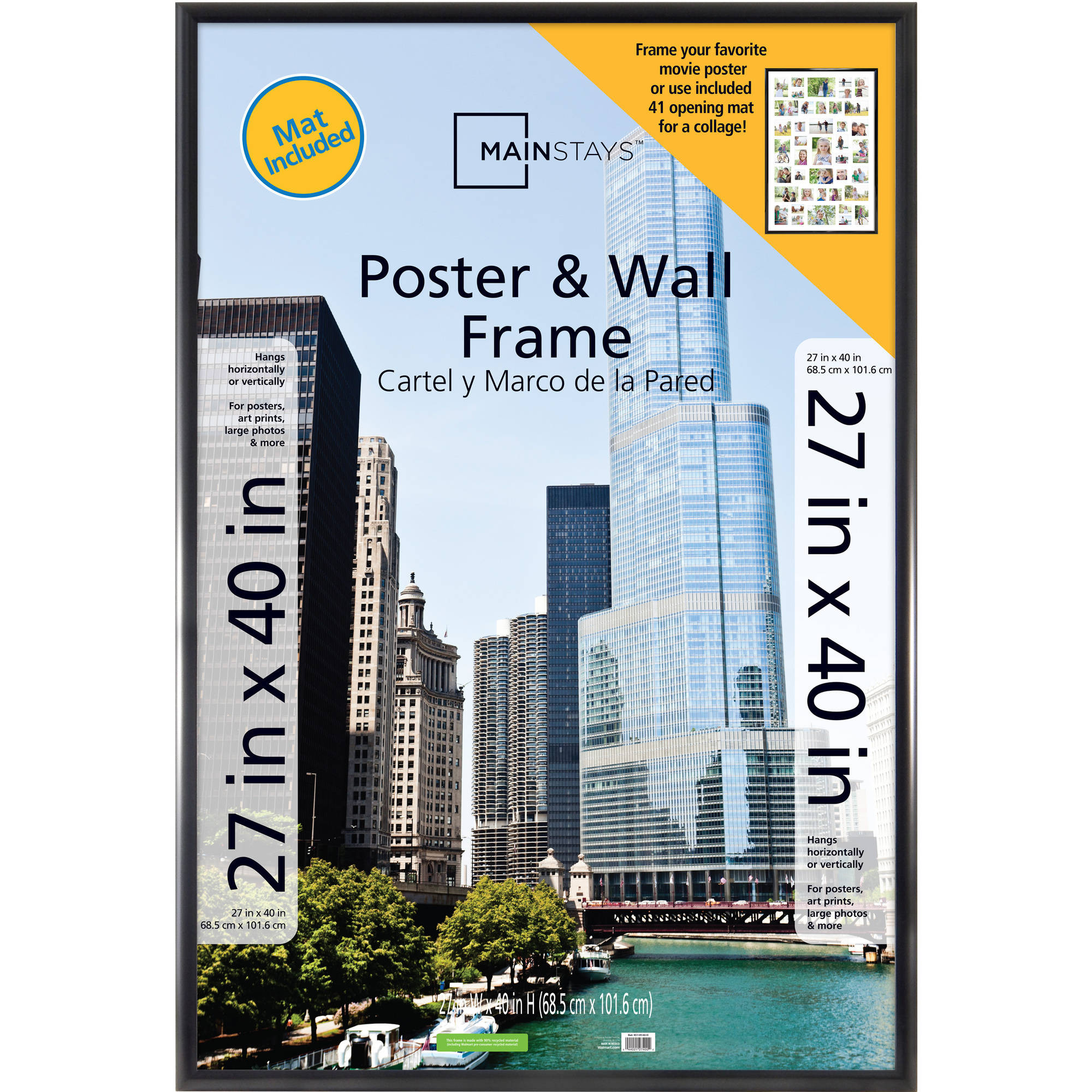 Large Frame Mat Details About Mainstays 27x40 Trendsetter 41 Opening Collage Mat Poster Picture Frame Wall