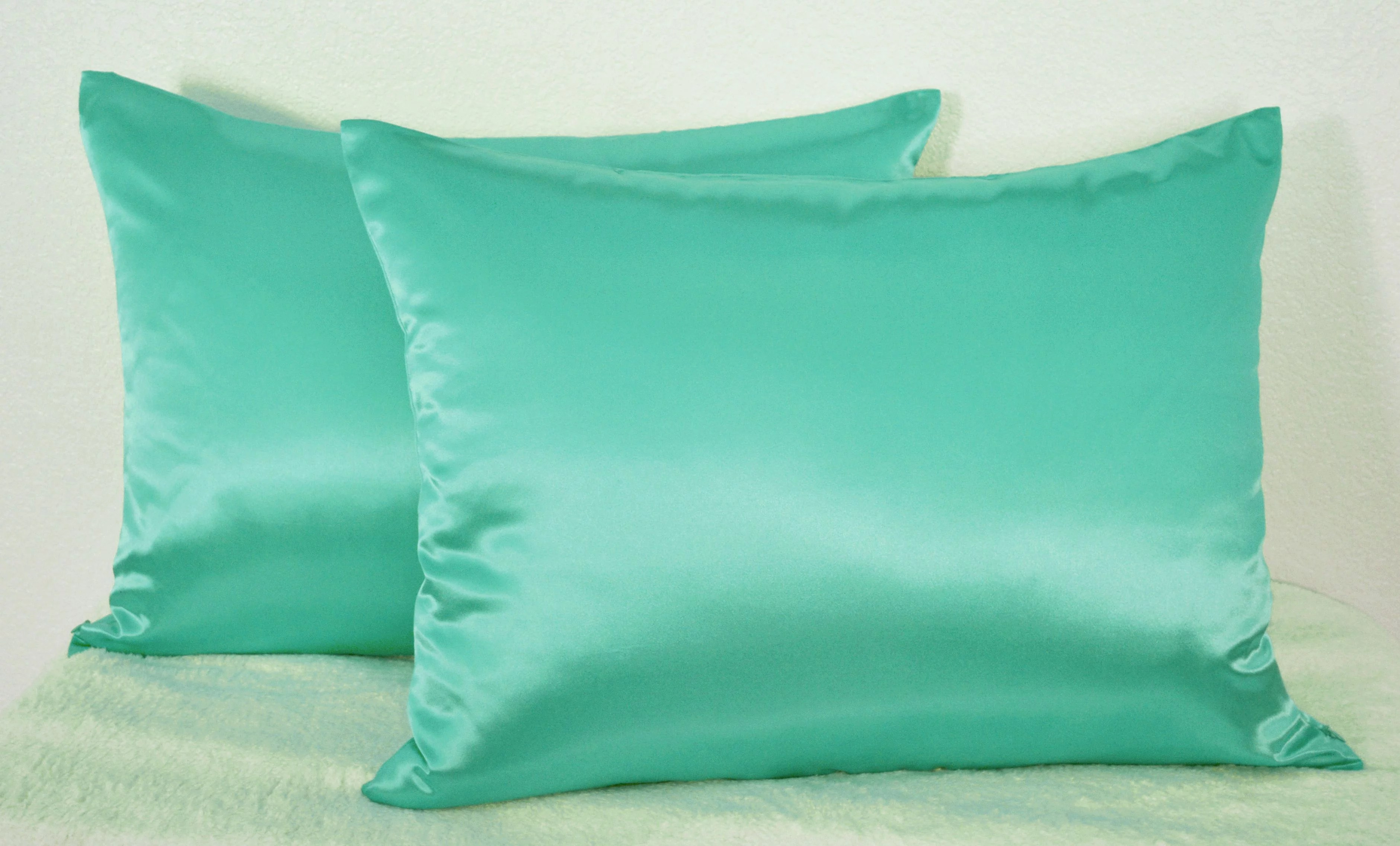 Satin Pillowcases With Zipper Aiking Home 350tc Bridal Satin Pillow Cases Zipper Closure Pack Of 2 Size 20 X26 Standard Teal