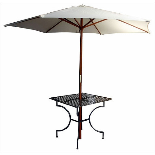 Pangaea Home and Garden Iron Square Dining Table with 2.75