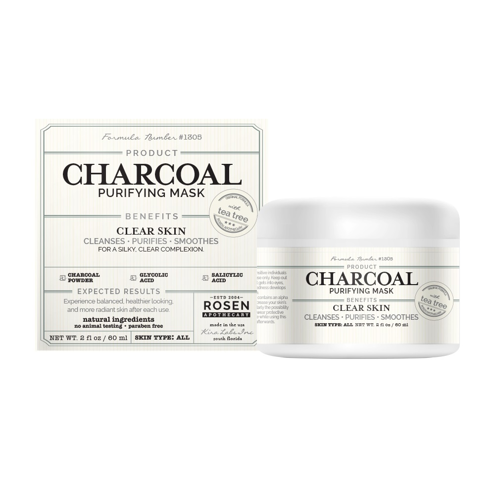 Rosen Apothecary Charcoal Purify Face Mask With Natural Tea Tree 2oz 60ml Walmart Com Walmart Com