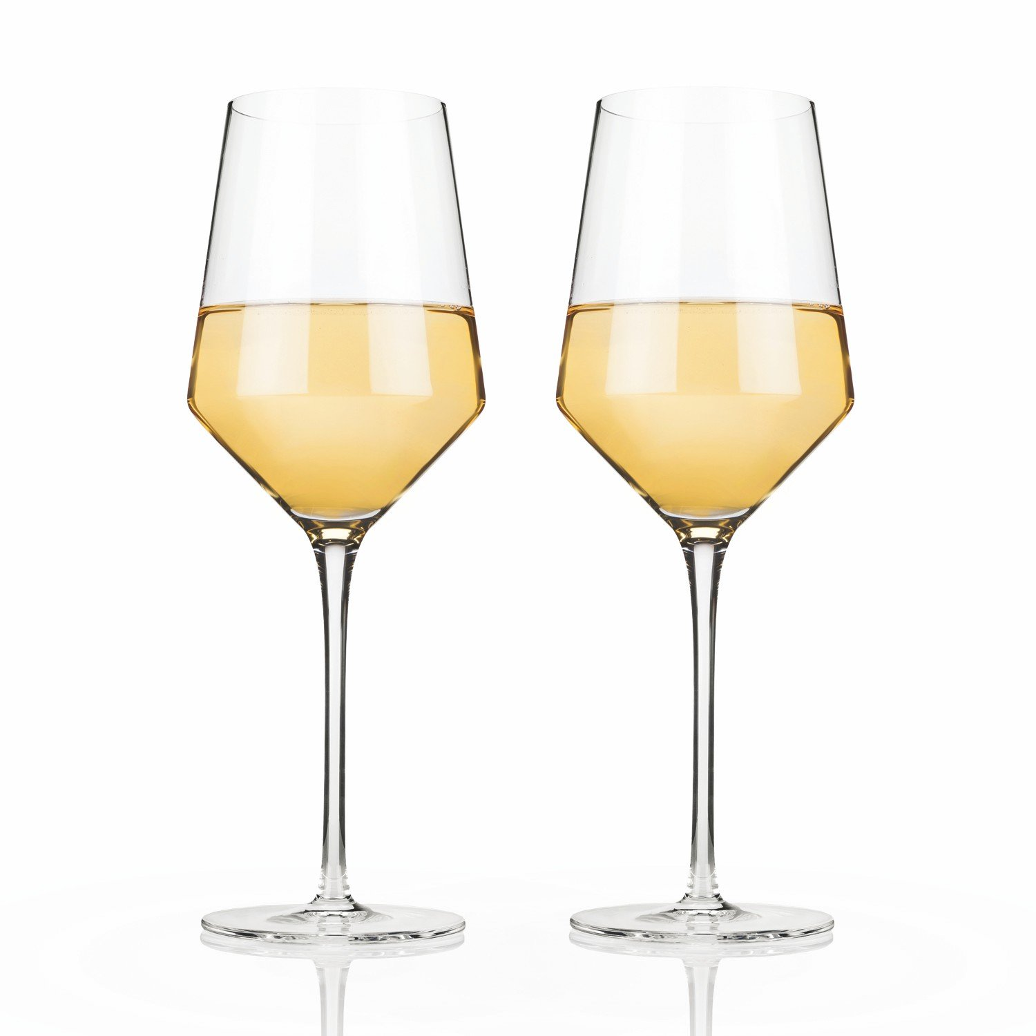 Chardonnay Wine Glass Clear Wine Glasses Raye Crystal Chardonnay Insulated Wine Glass Set Of 2