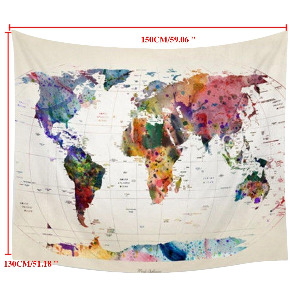 World Map Decorations On Clearance Wall Tapestry Hanging Vintage World Map Tapestry Art Nature Home Decorations For Living Room Bedroom Dorm Decor