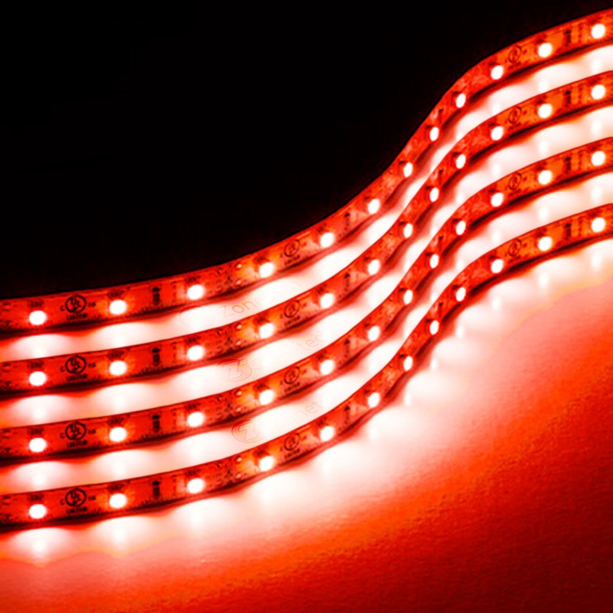 Led Strip Waterproof Zone Tech 30cm Flexible Waterproof Red Light Strips 4 Pack Led Car Flexible Waterproof Red Light Strips