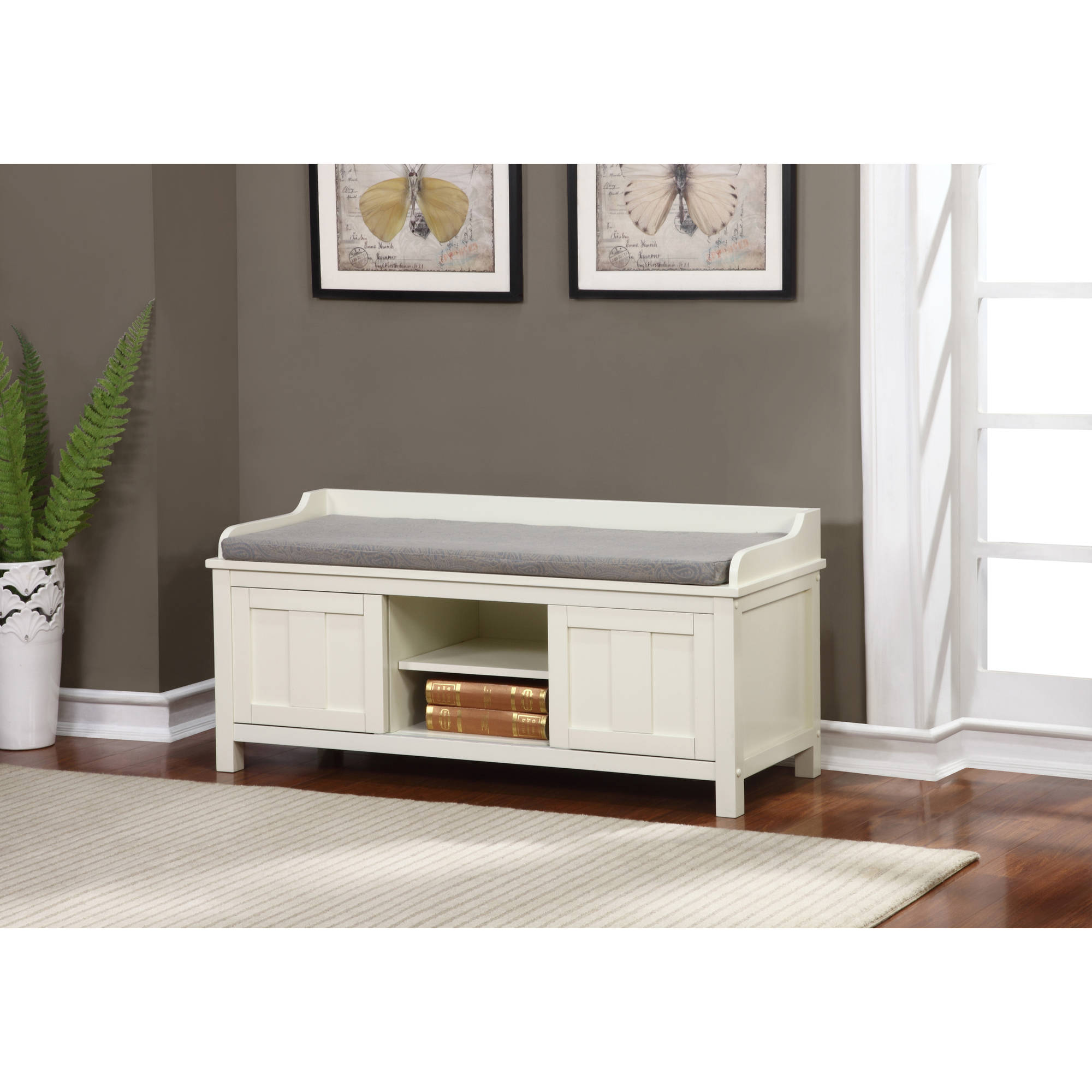 Wooden Storage Bench Lakeville White Storage Bench 18 75 Inches Seat Height
