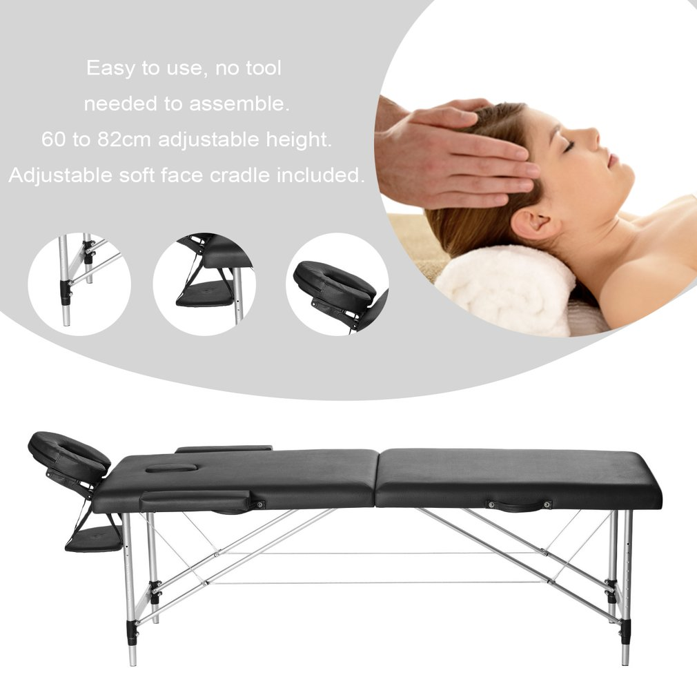 Salon De Massage 93 Portable Folding Therapy Massage Bed Adjustable Spa Relax
