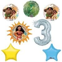 Disney Moana 3rd Holographic Birthday Party Balloon ...