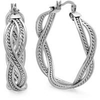 Women's Stainless Steel Hoop Earrings - Walmart.com