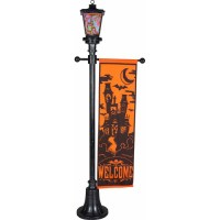 6ft Victorian Lamp Post W/orange Welcome - Walmart.com