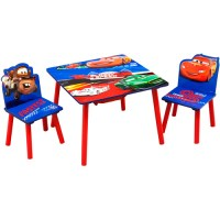 Disney Cars Toddler Table and Chair Set with Storage ...