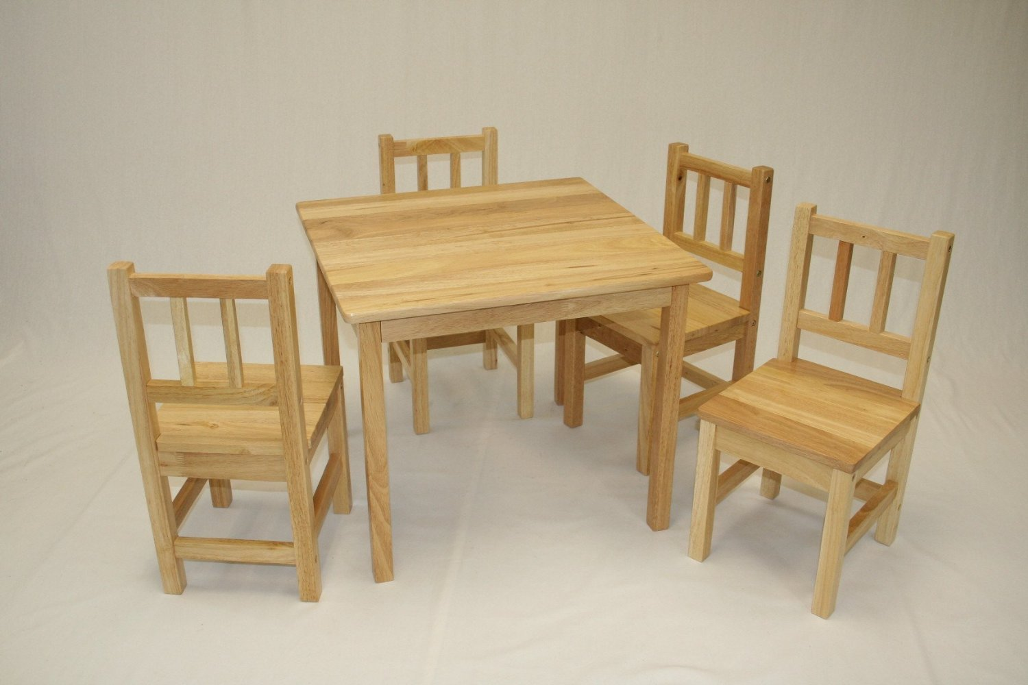 Childrens Table And Chair Set Ehemco 5 Piece Kids Table And Chairs Set Solid Hard Wood Unfinished