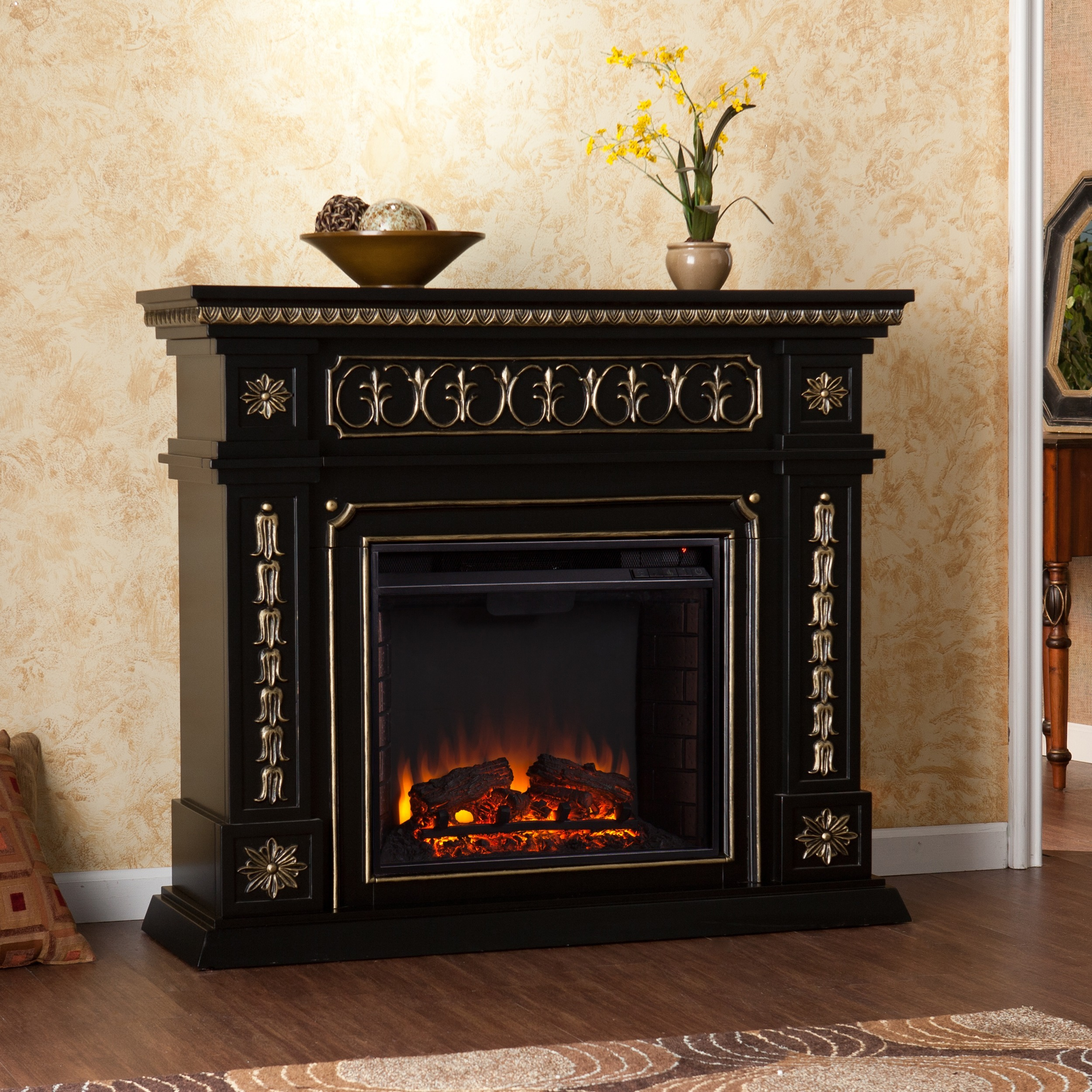 Walmart Black Electric Fireplace Harper Blvd Alessia Black Electric Fireplace Walmart