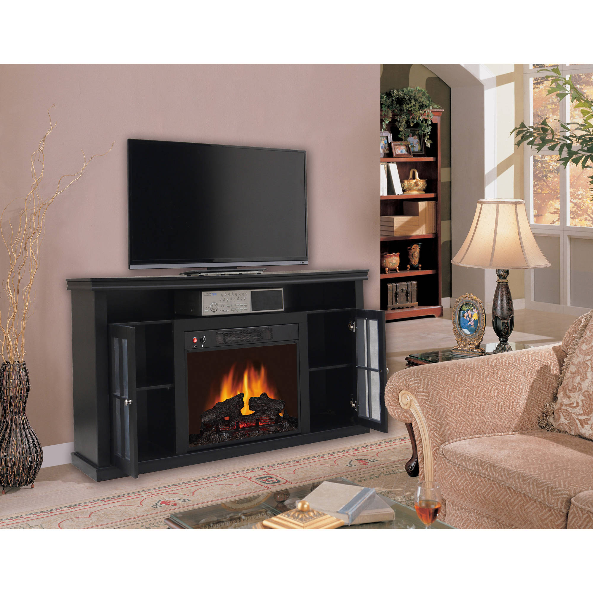 Walmart Black Electric Fireplace 60 Black Electric Fireplace Heater
