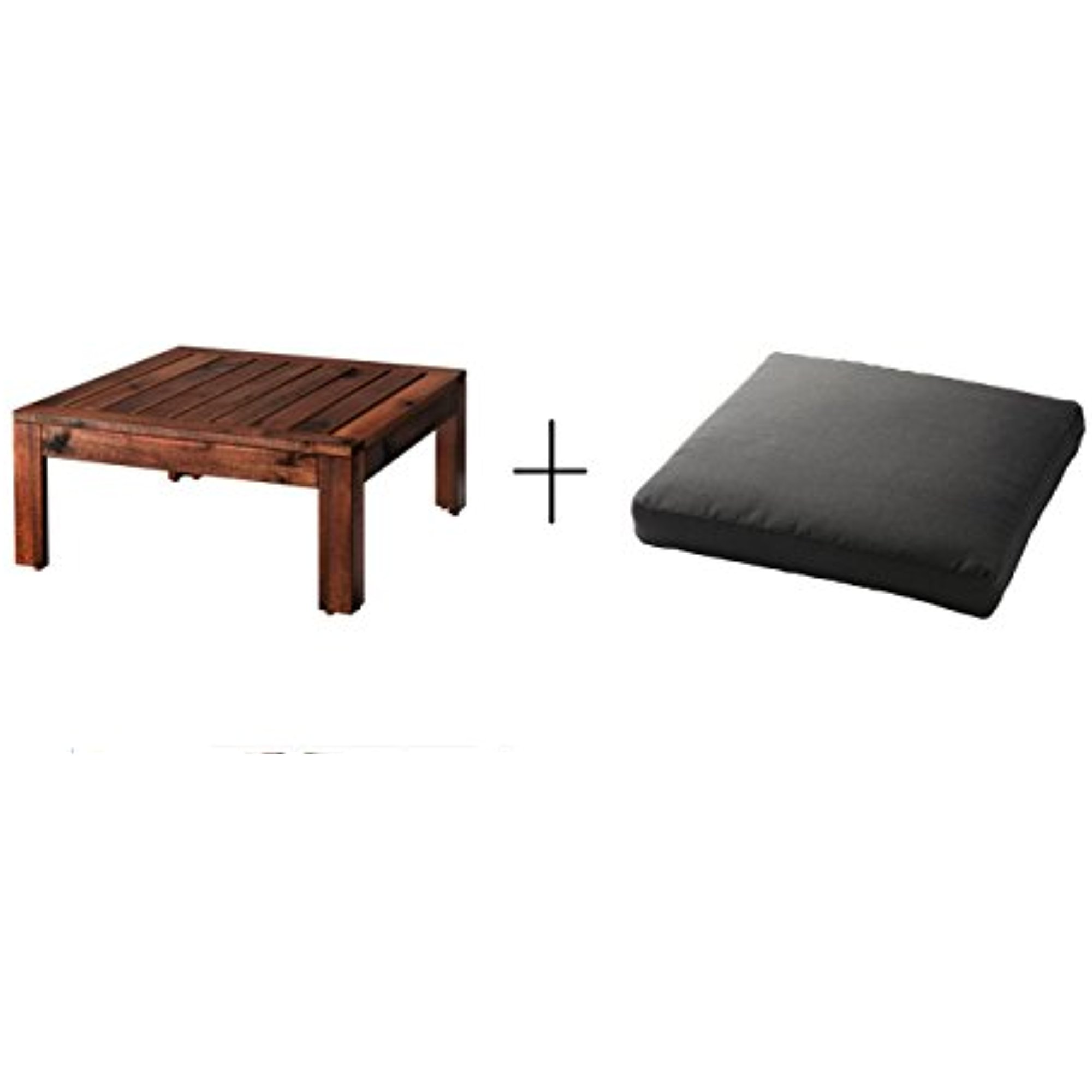 Ikea Stool Ikea Table Stool Section Outdoor Brown Stained Brown Seat Pad Outdoor Black 24x24