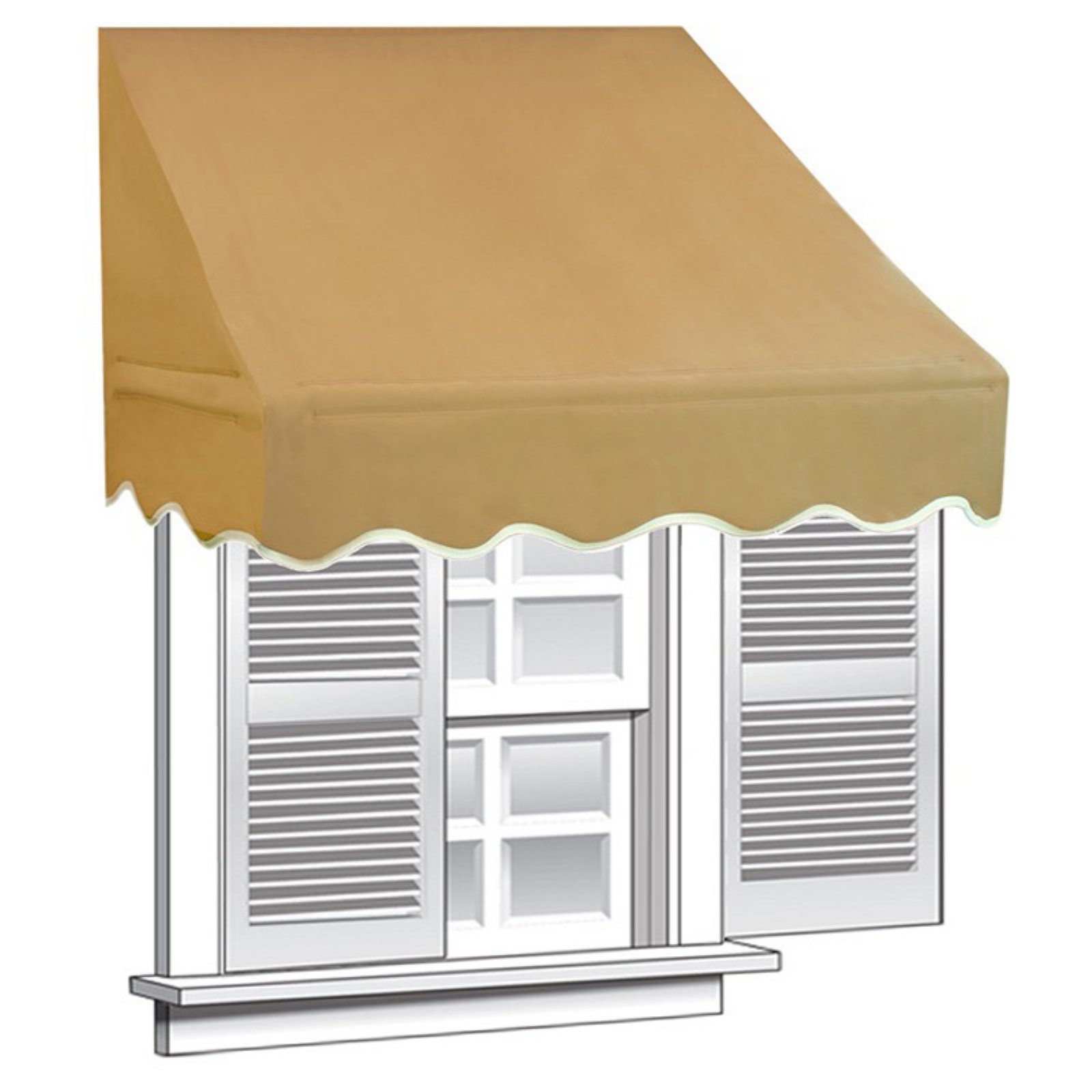 Window Canopy Aleko 6 X 2 Window Awning Door Canopy 12 Sq Ft Coverage