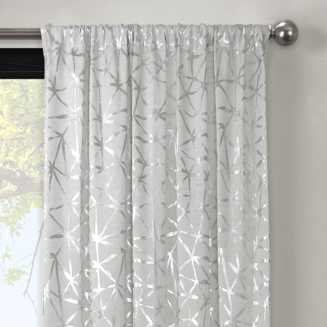 102 Inch Curtains Better Homes Gardens Metallic Gold Or Silver Shattered Glass Window Curtain Panel