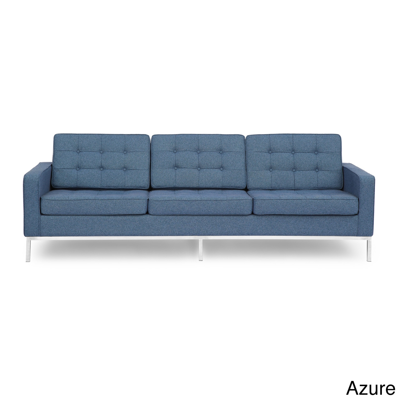 Florence Knoll Sessel Kardiel Florence Knoll Style Sofa 3 Seat Premium Fabric Upholstery