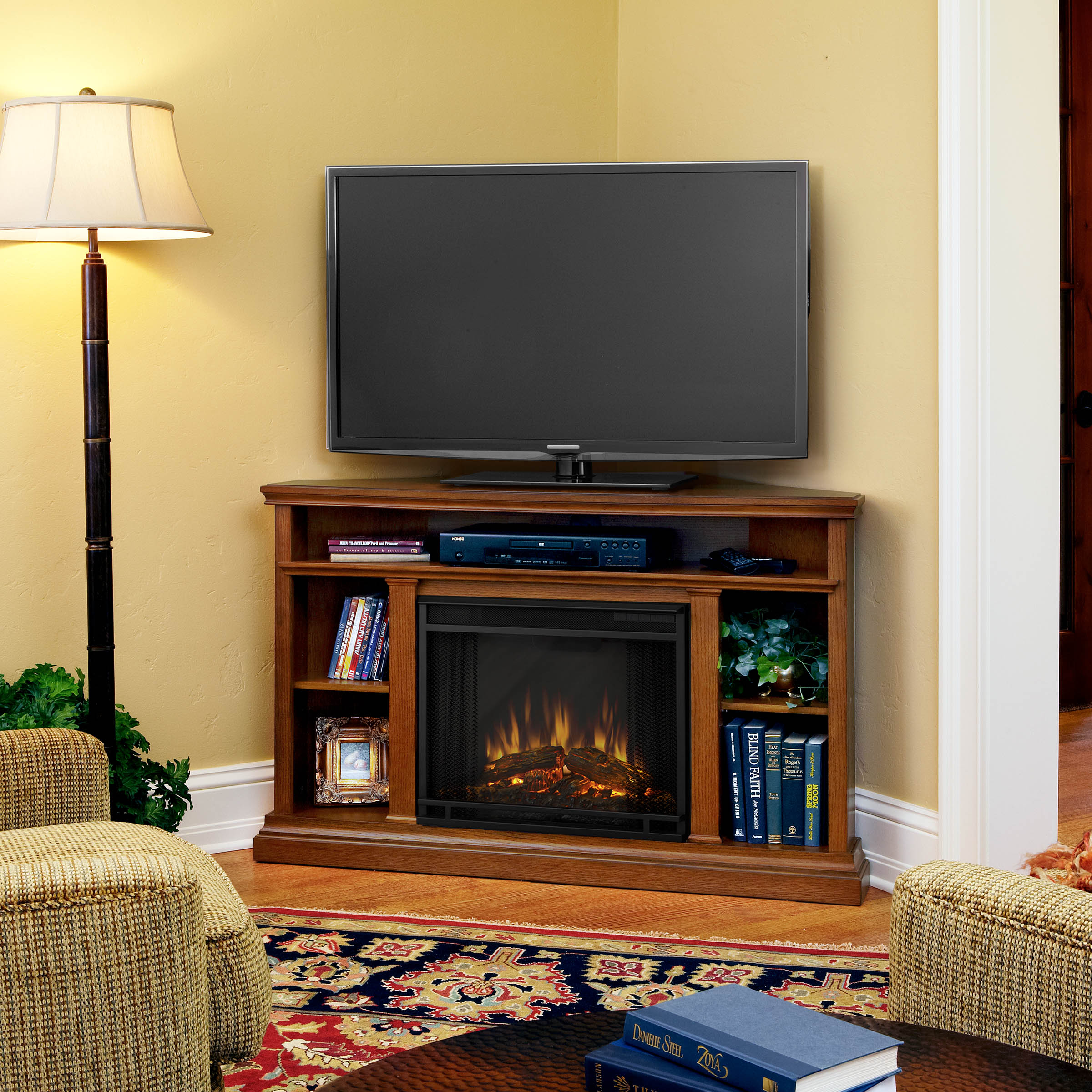 Living Room Electric Fireplace Churchill Electric Fireplace In Oak By Real Flame