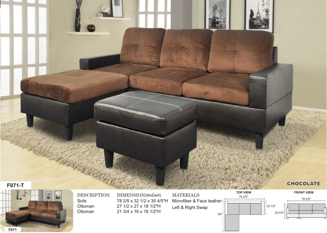 Sofa L 2 X 2 Aycp Furniture Small 3 Seats L Shape Simple Sectional Sofa Couch Set With Ottoman Left And Right Swap Faux Leather And Microfibr Upholstery
