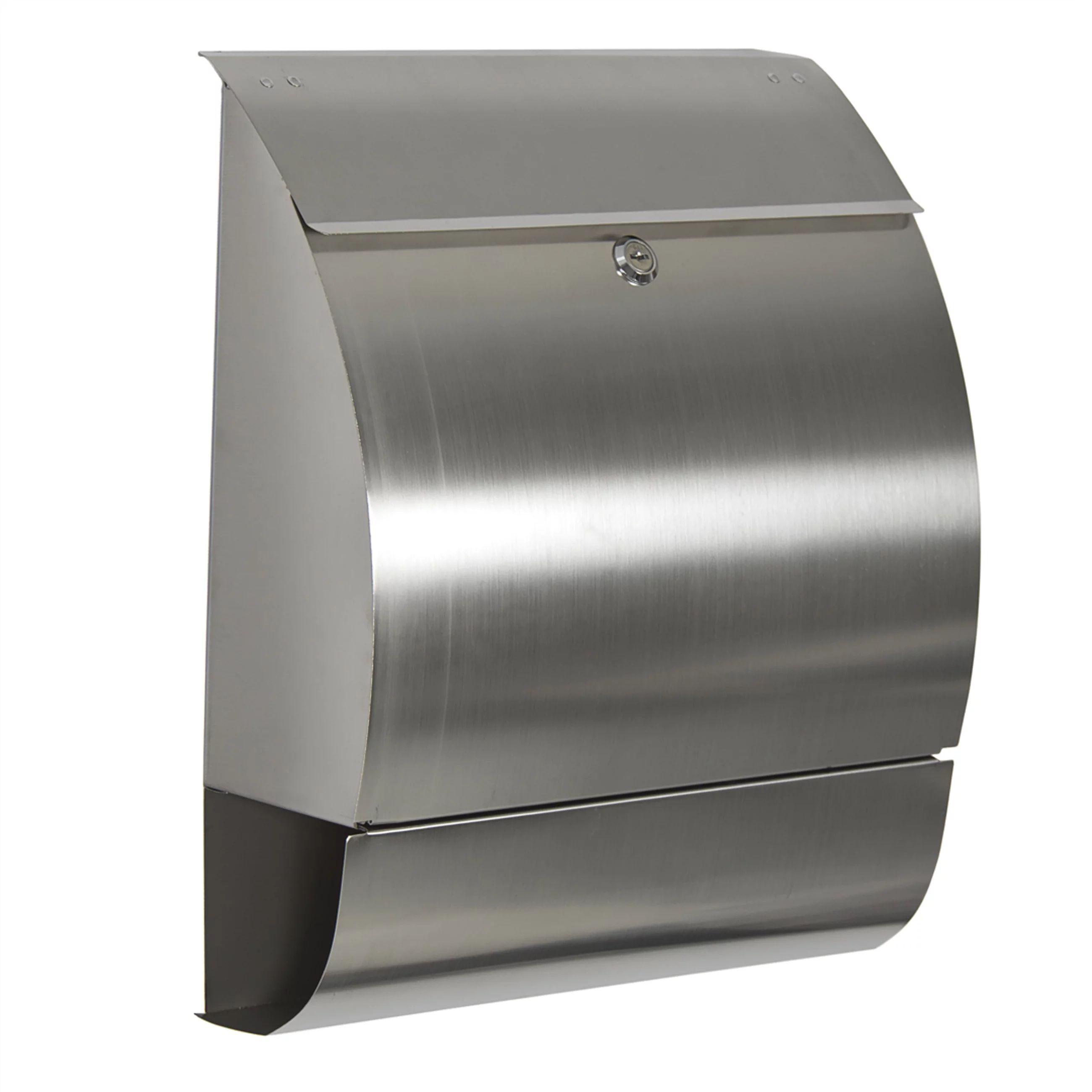 Mailbox stainless steel locking mail box letterbox postal box modern design new walmart com