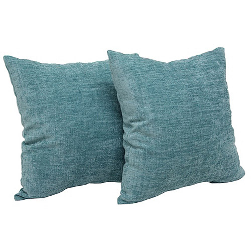 """Mainstays Chenille 18"""" x 18"""" Decorative Pillow, Set of 2"""