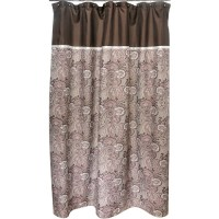 Famous Home Waverly Paddock Shawl Shower Curtain, Brown ...