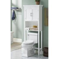WyndenHall Hayes White Bathroom Space Saver Cabinet ...