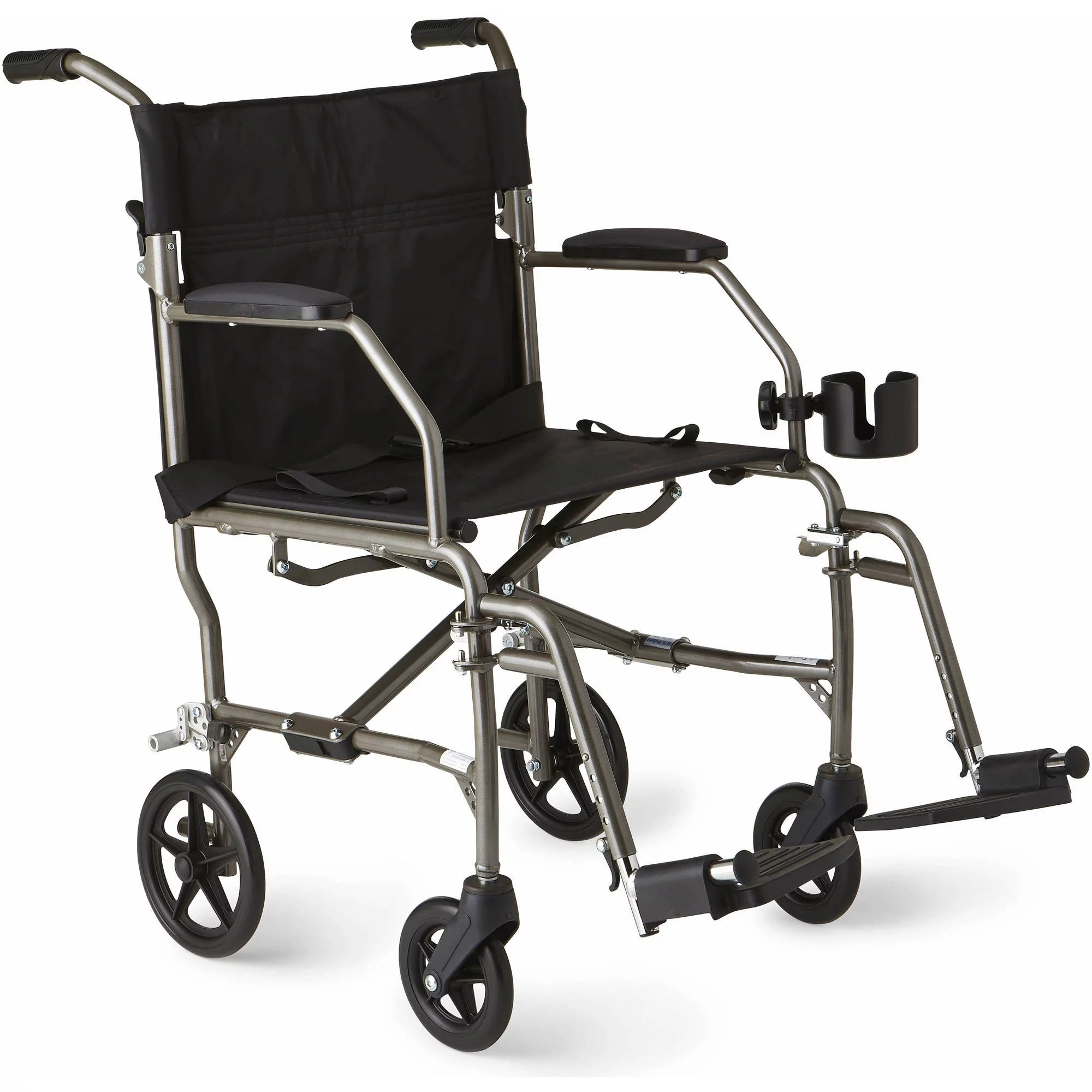 Bed Wheelchair Medline K1 Basic Extra Wide Wheelchair With Swing Away Footrests