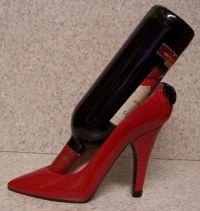 High Heel Shoe Wine Bottle Holder- Red High Heel - Walmart.com