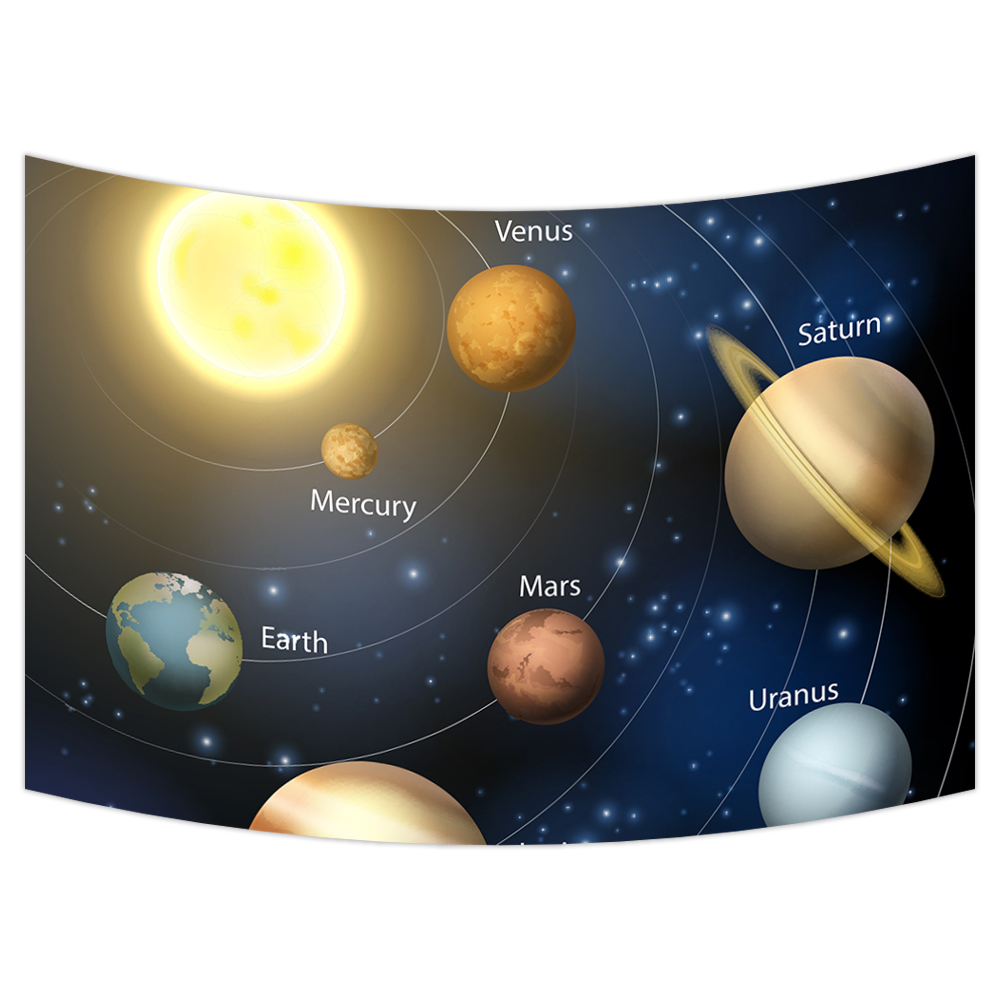 Planets Wall Art Ykcg Planetary Orbit Educational Solar System Planets Wall Hanging Tapestry Wall Art 51x60 Inches