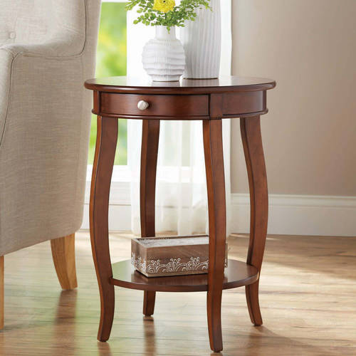 Better Homes Gardens Round Accent Table With Drawer