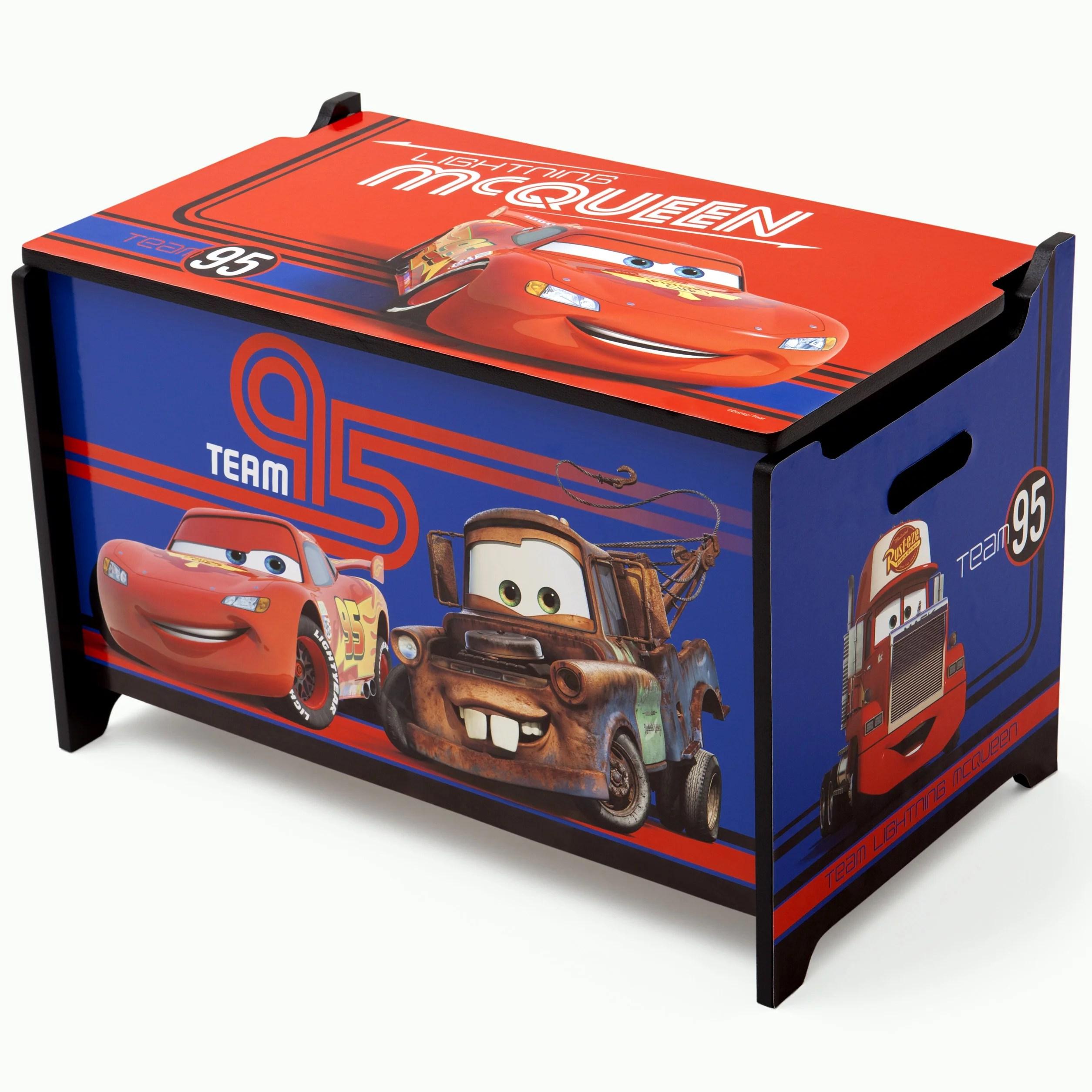 Disney Pixar Cars Lightning Mcqueen Wood Toy Box