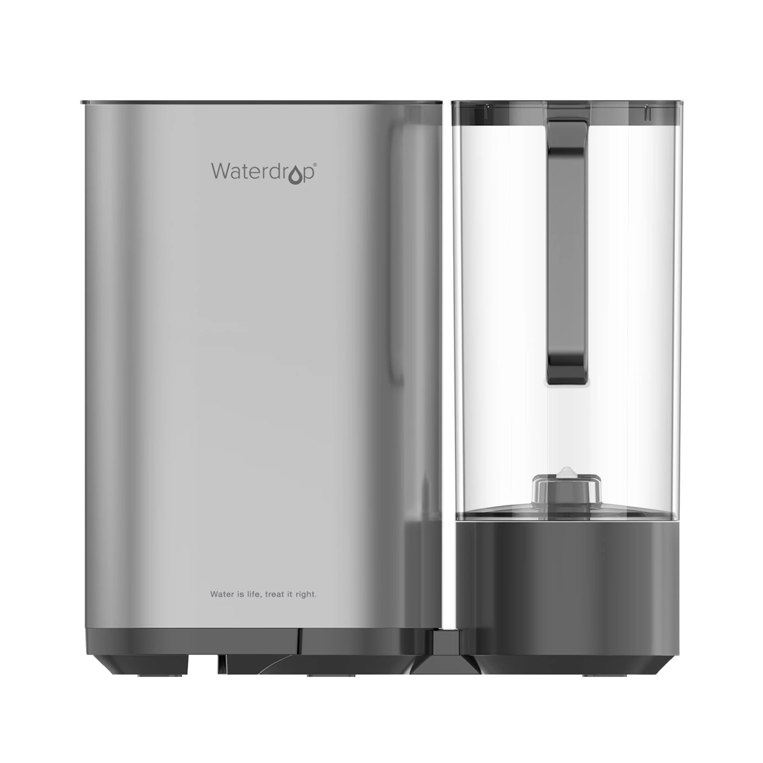 Waterdrop Countertop Ro Reverse Osmosis Drinking Water Filtration System With Portable Water Pitcher 5 Stages All In One Ro Water Filter Tds Reduction Tankless No Electricity No Pump Gray Walmart Com Walmart Com