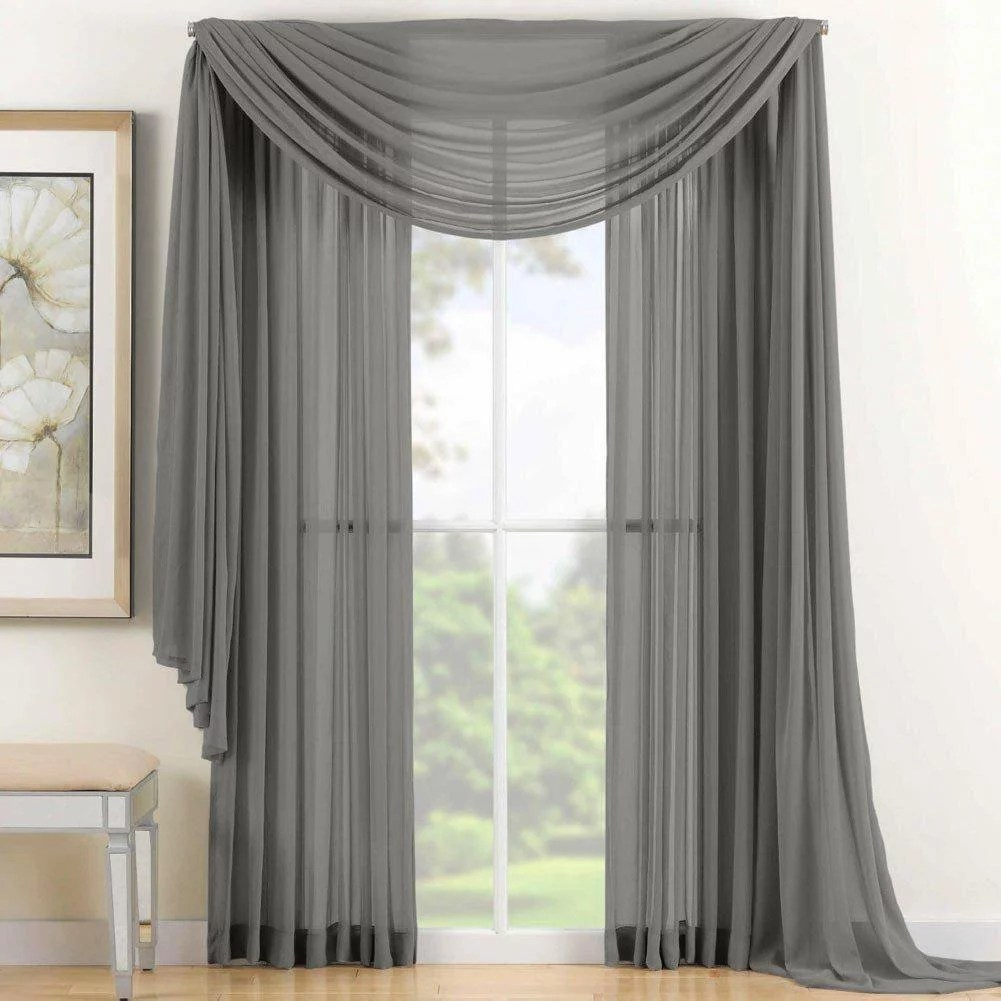 Sheer Curtains Australia Qutain Linen Solid Viole Sheer Curtain Window Panel Drapes Set Of Two 2 55