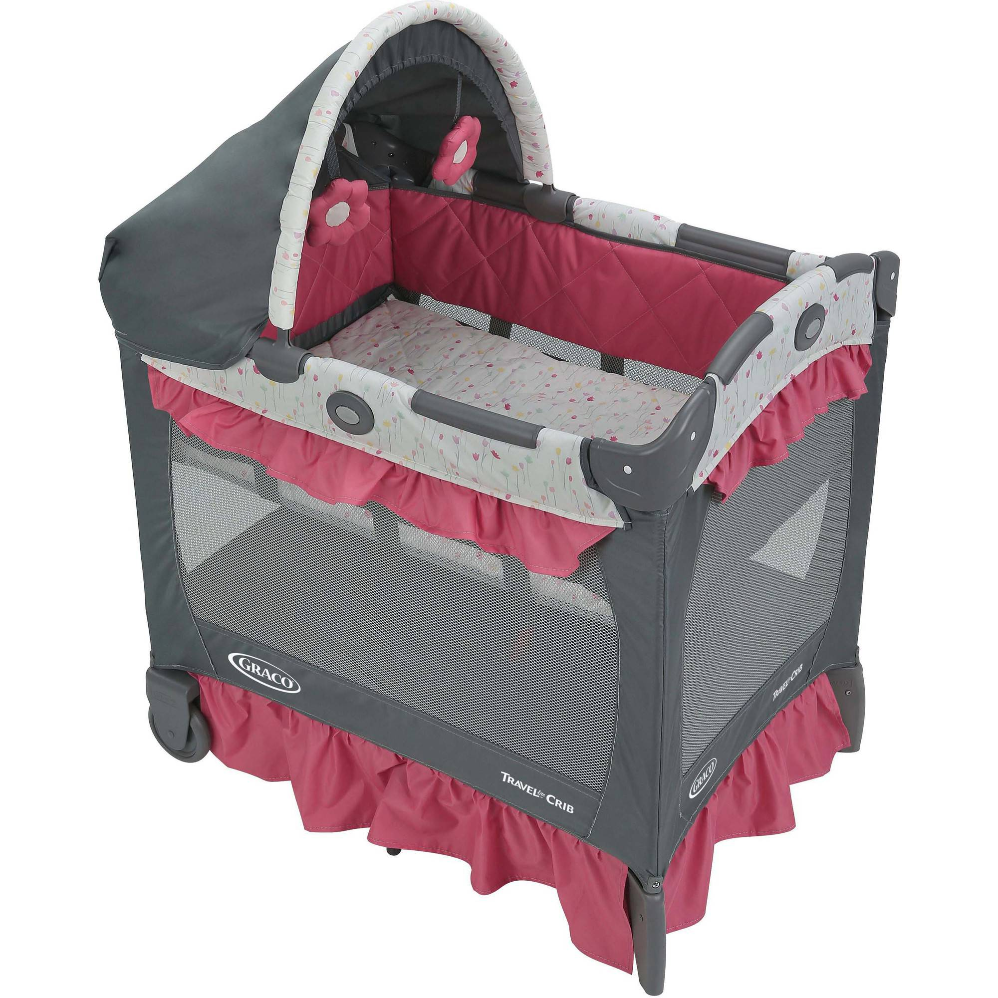 Graco pack n play travel lite crib portable baby playard crib alma walmart com